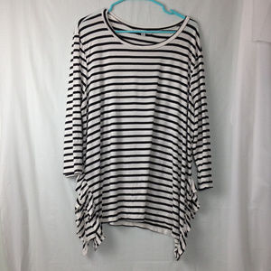 Green envelope Stripe long sleeve size 2x